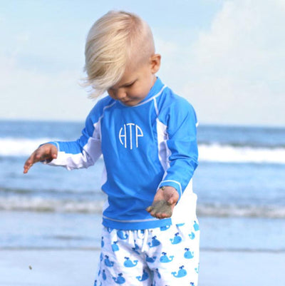 Blue Long Sleeve Rash Guard