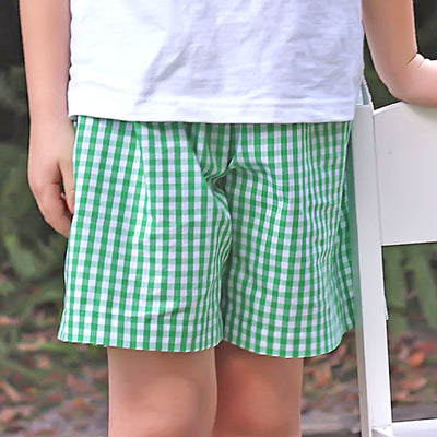 Summer Green Check Shorts