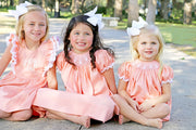 Cottontail Smocked Bubble Peach Pique