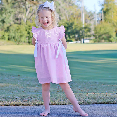 Light Pink Gingham Avery Dress