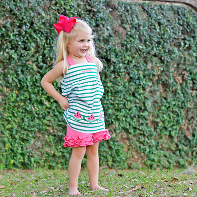 Green Stripe Watermelon Mia Short Set