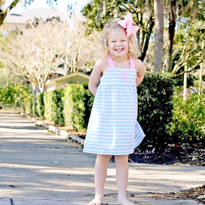 Light Blue Stripe Mia Dress