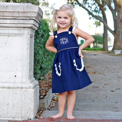 Navy Pique Harper Dress