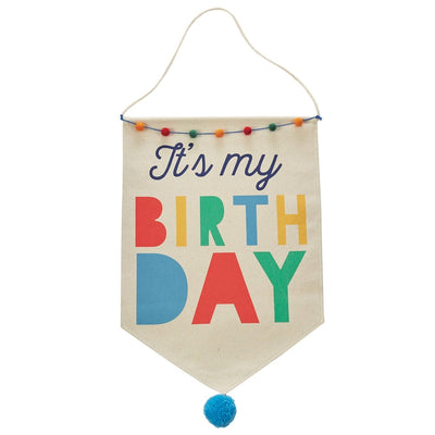 Boy Birthday Canvas Banner
