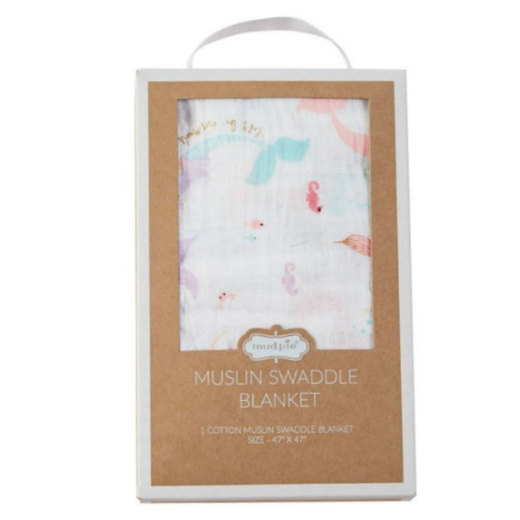 Muslin Mermaid Swaddle Blanket