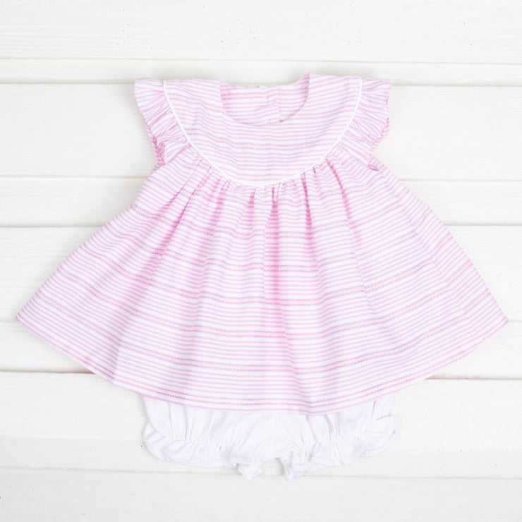 Rose Stripe Lucy Bloomer Set