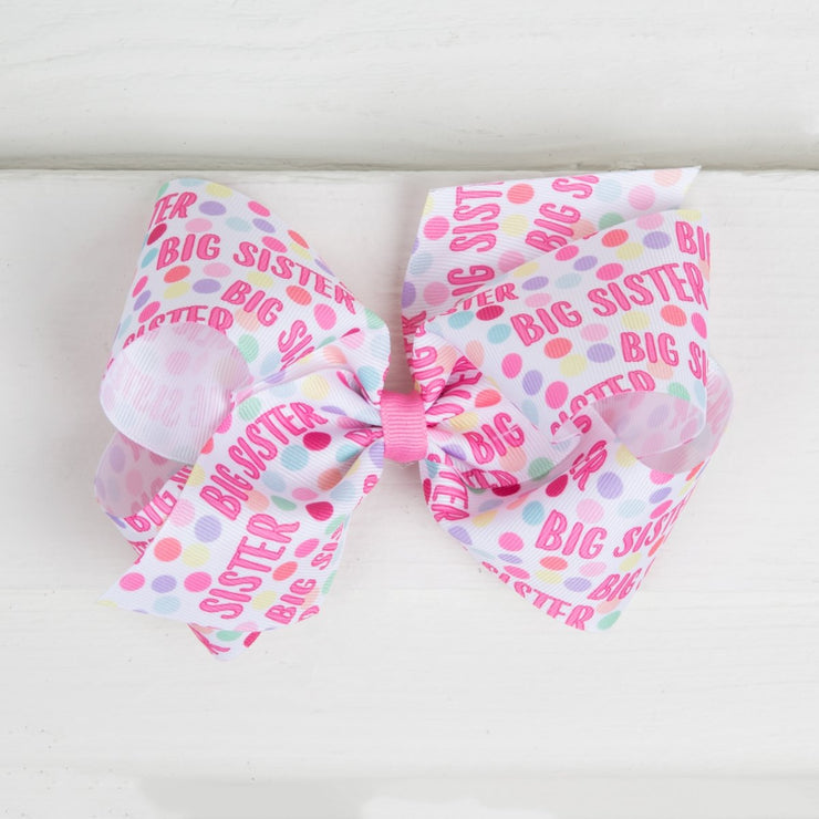 Big Sister Grosgrain Bow