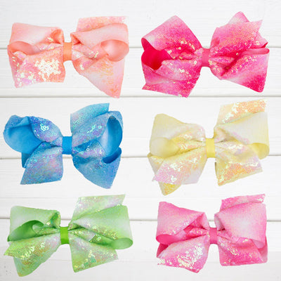 Bright Ombre Sequin Bow