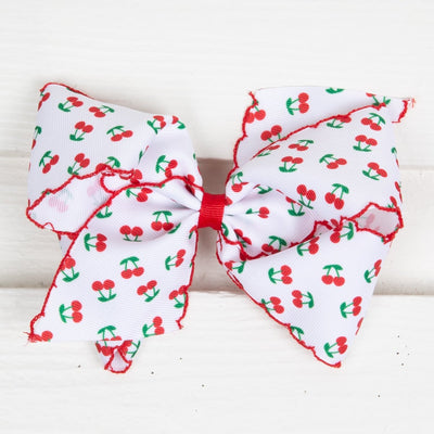 Cherry Moonstitch Edge Bow