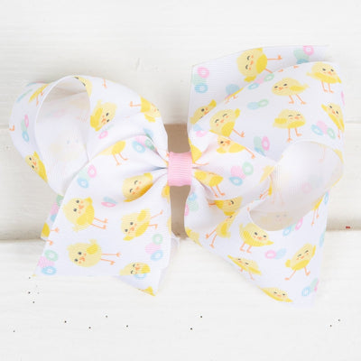 Chick Grosgrain Bow White