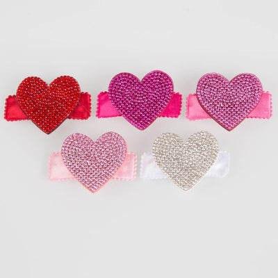 Crystallized Heart Hair Clip