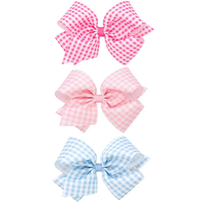 Gingham Printed Grosgrain Bow