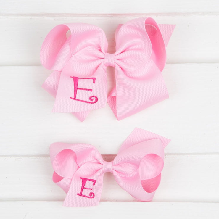 Light Pink Monogram Initial Bow