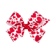 Red Hearts Grosgrain Bow