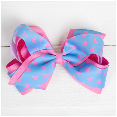 Sail Away Bow Blue and Pink
