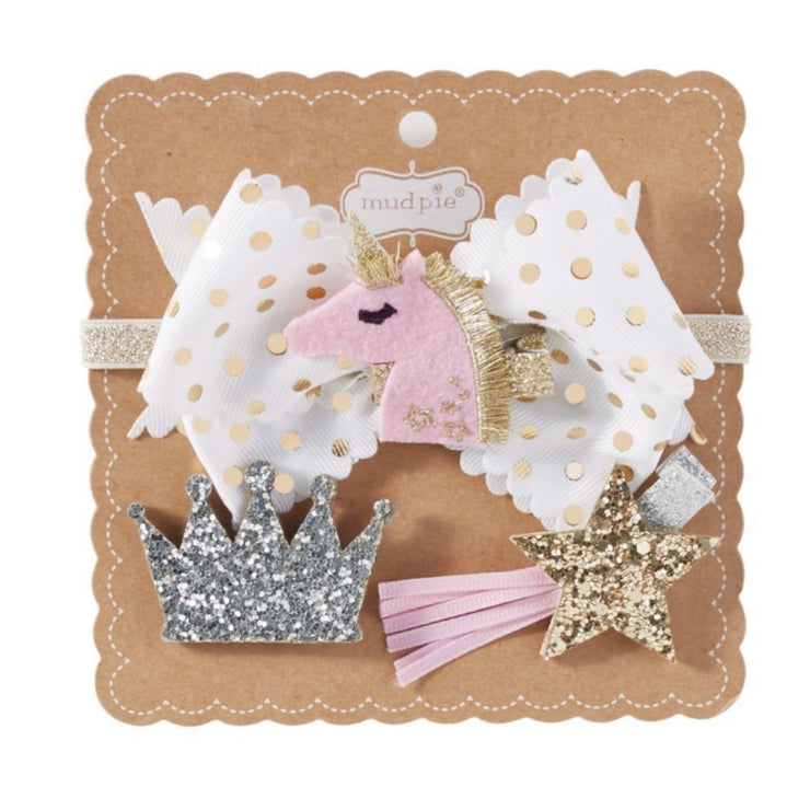 Unicorn 3 in 1 Bow Set for Baby