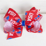 USA Love Grosgrain Bow Red