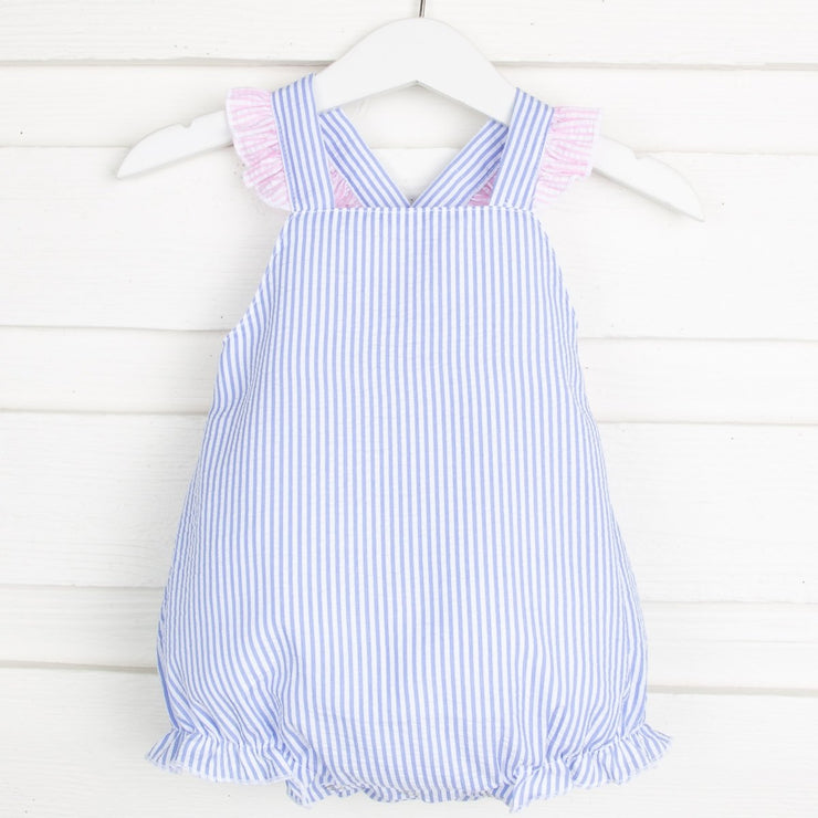 Blue Stripe Bow Back Sun Bubble