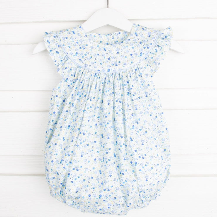 Blue Tiny Floral Lucy Bubble
