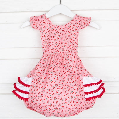 Cherry Ruffle Bubble Pink