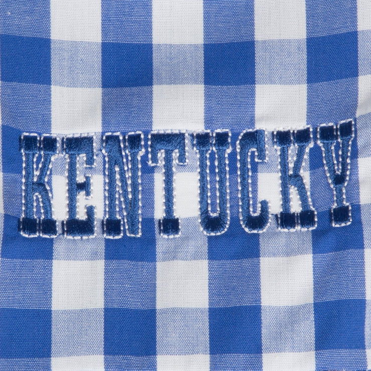 Embroidered Kentucky Bubble Check