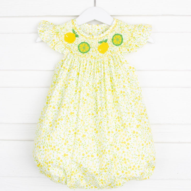 Lemon Smocked Yellow Bubble