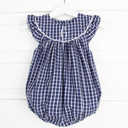 Lucy Bubble Navy Windowpane