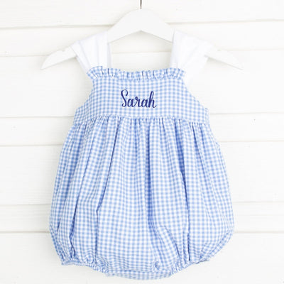 Marine Blue Stella Bubble Gingham