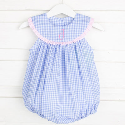 Pacific Blue Lindsey Bubble Gingham