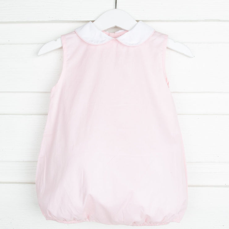 Pink Collared Sleeveless Bubble