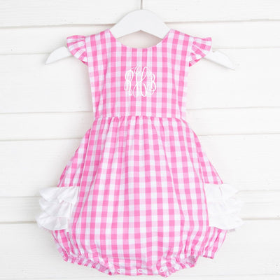 Ruffle Bubble Light Pink Gingham