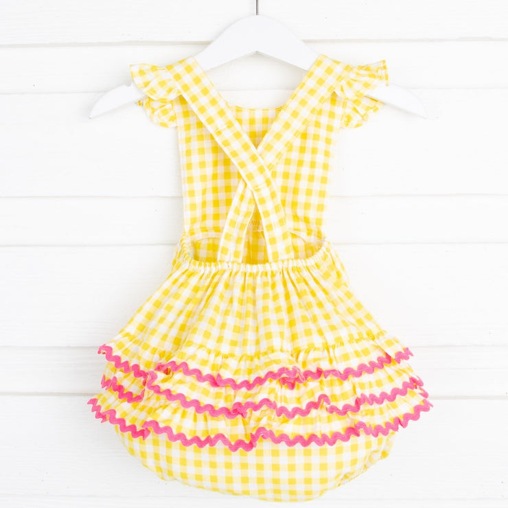 Ruffle Bubble Yellow Check