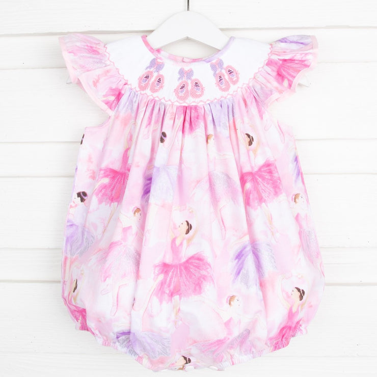 Smocked Ballerina Dreams Bubble Pink