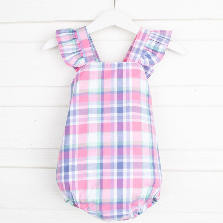Summer Plaid Charlie Bubble Pink and Purple