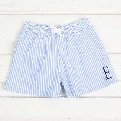 French Blue Seersucker Board Shorts