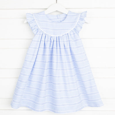 Lucy Dress Blue Stripe