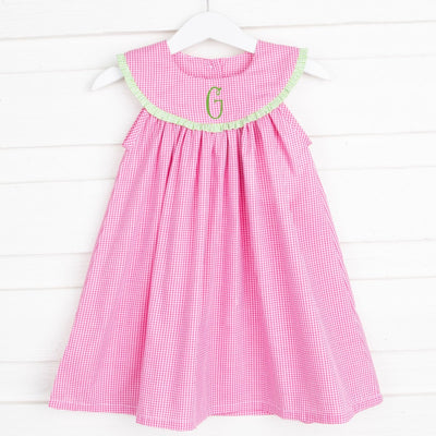 Petal Gingham Lindsey Dress Pink