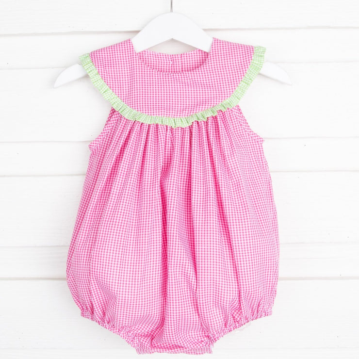 Petal Pink Lindsey Bubble Gingham