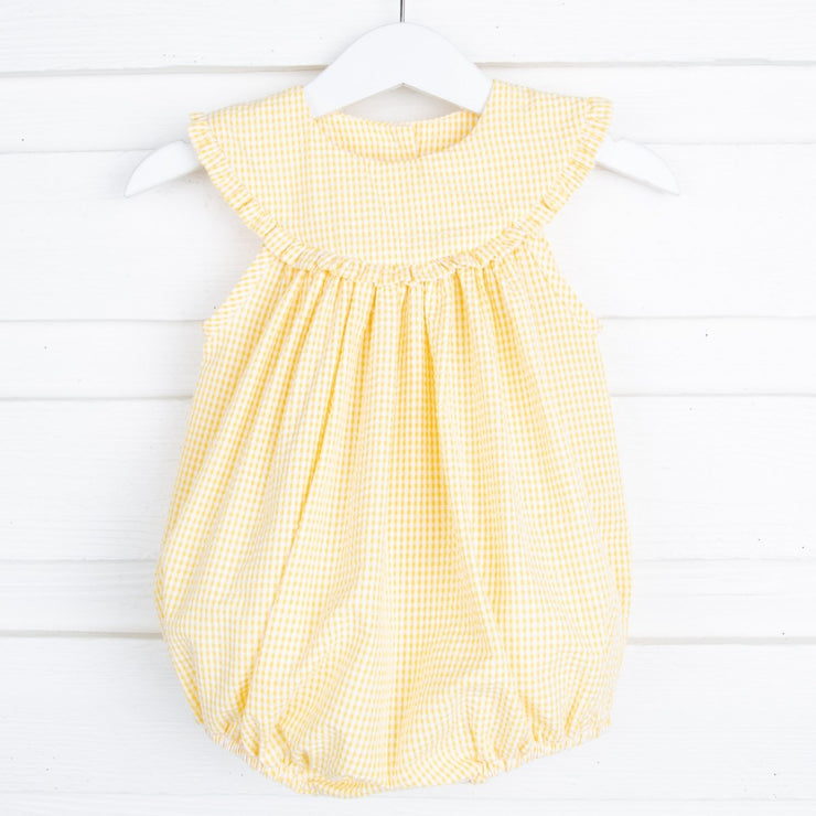 Sunshine Lindsey Bubble Yellow Gingham Seersucker
