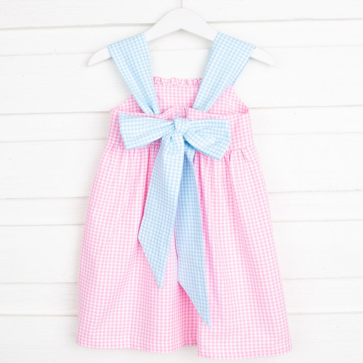 Party Pink Stella Dress Gingham
