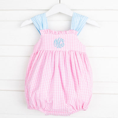 Party Pink Stella Bubble Gingham