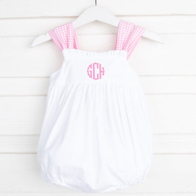 White Stella Bubble Pink Gingham