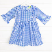 Blue Gingham Olivia Dress