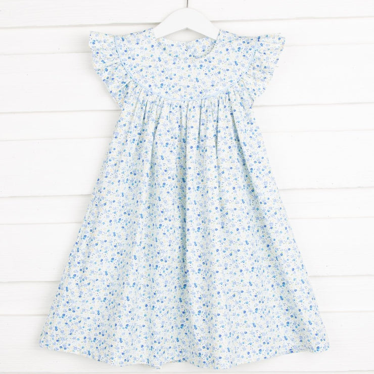 Blue Tiny Floral Lucy Dress
