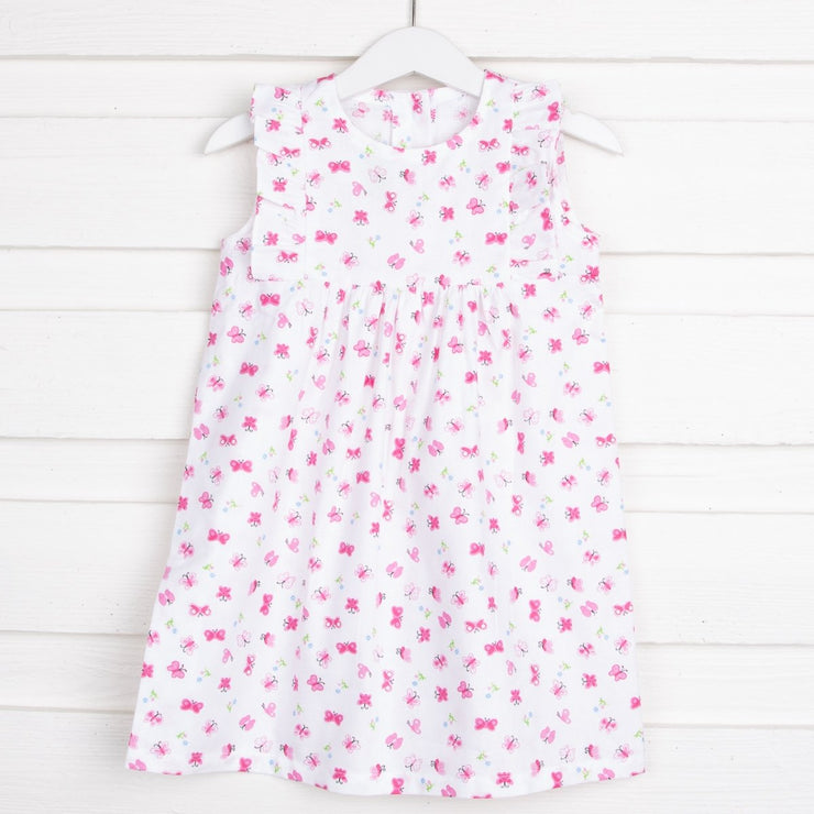 Butterfly Kate Dress White