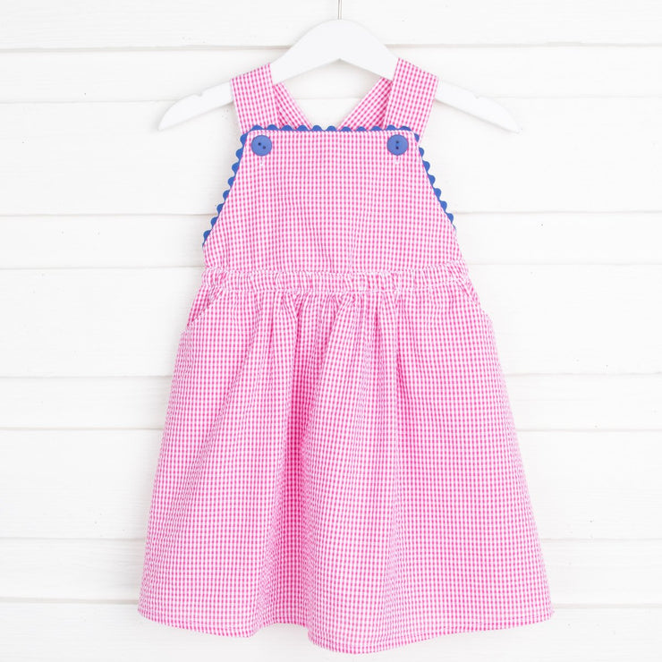 Cerise Pink Piper Dress Gingham