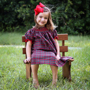 Christmas Eve Plaid Smocked Bishop Red and Green