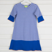 Knit Dress Royal Blue Stripe