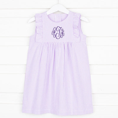 Lilac Kate Dress Gingham Seersucker