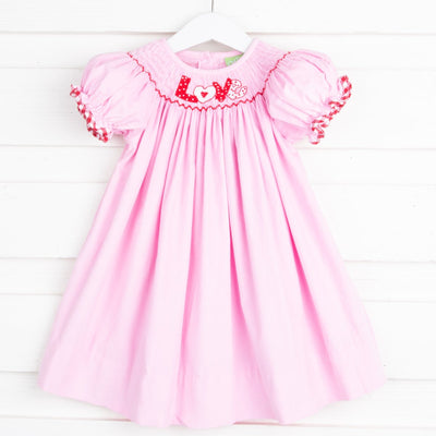 Love Smocked Bishop Pink Corduroy